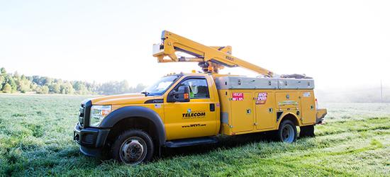 Waitsfield Telecom truck