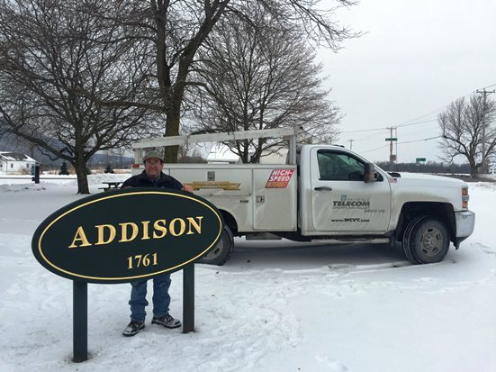 Addison Town Sign